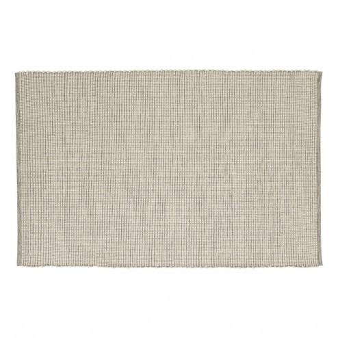 Hübsch vloerkleed van grijs-wit katoen, 120x180cm