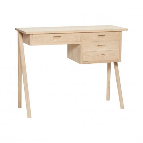 Hübsch klein eiken bureau met vier lades, 100cm