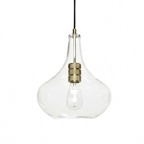 Hubsch hanglamp van glas en messing, ø28cm