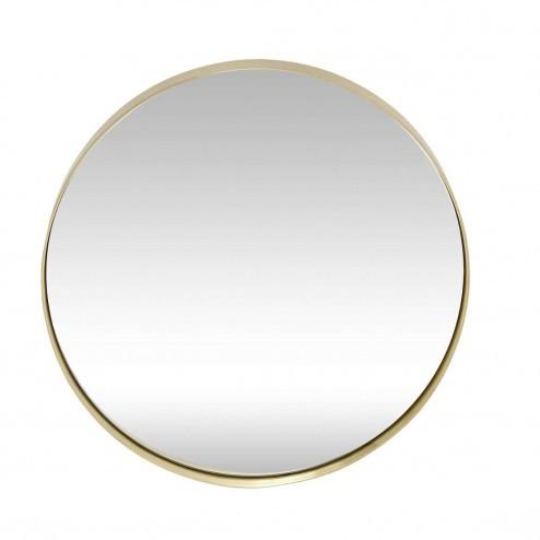 Hübsch Interior ronde spiegel met messing rand, Ø40cm