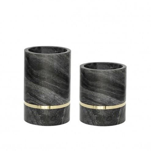 Hubsch vazen van zwart marmer