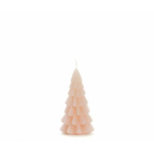 Rustik Lys kerstboom kaars, 6.3x12cm, skin