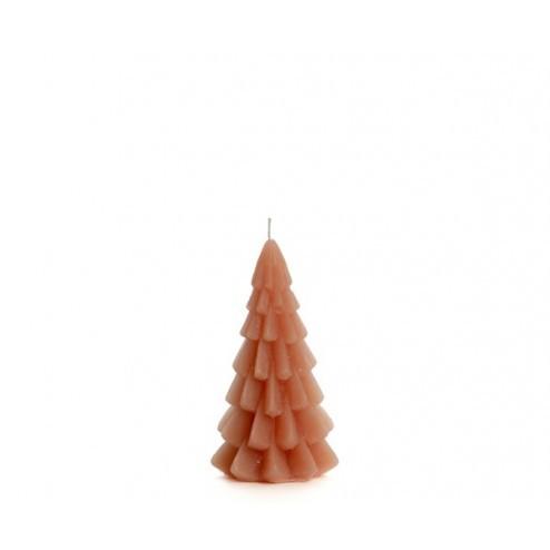 Rustik Lys kerstboom kaars, 6.3x12cm, oudroze