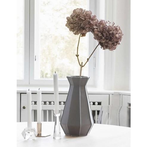 Hübsch grijze keramieken vaas-Hubsch Interior-33