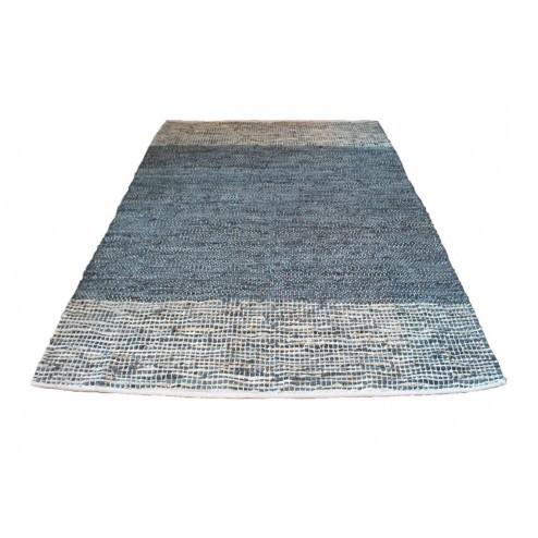 Broste vloerkleed Kirsten, castlerock grey, leer, 140x200cm