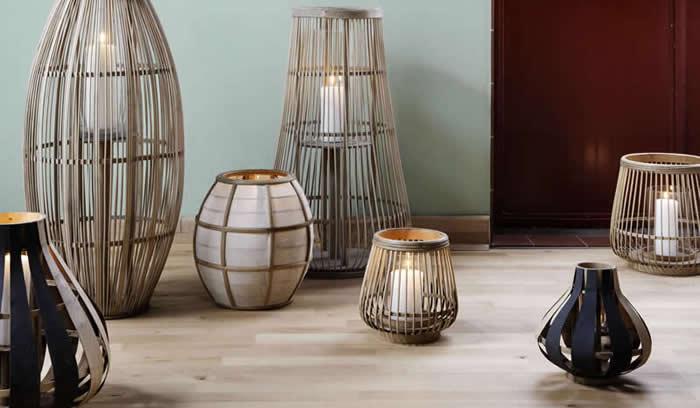 Broste lantaarns van bamboe