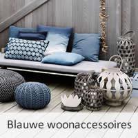 Blauwe woonaccessoires