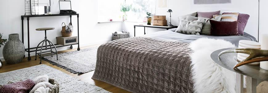 broste slaapkamer met vloerkleed
