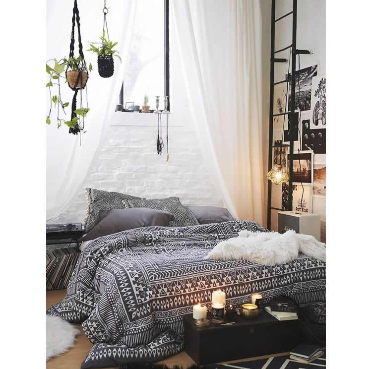 hanging basket in de slaapkamer