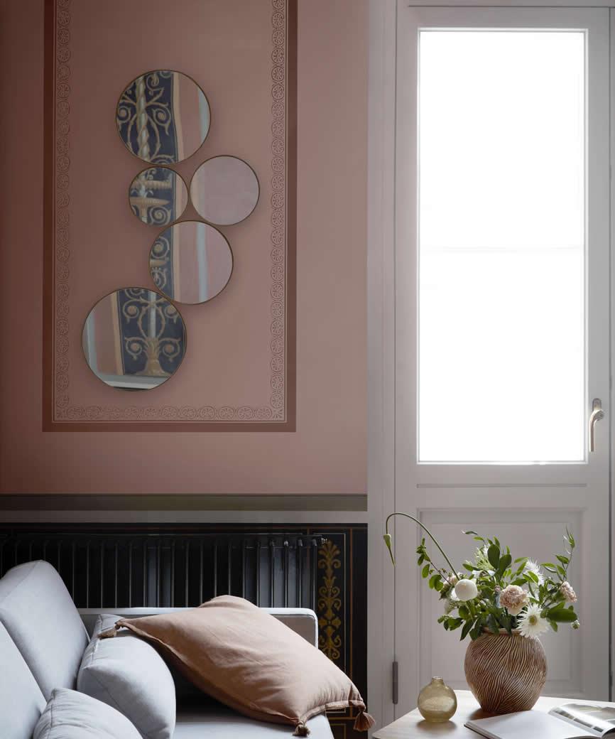 Kunst hangende spiegel van Broste