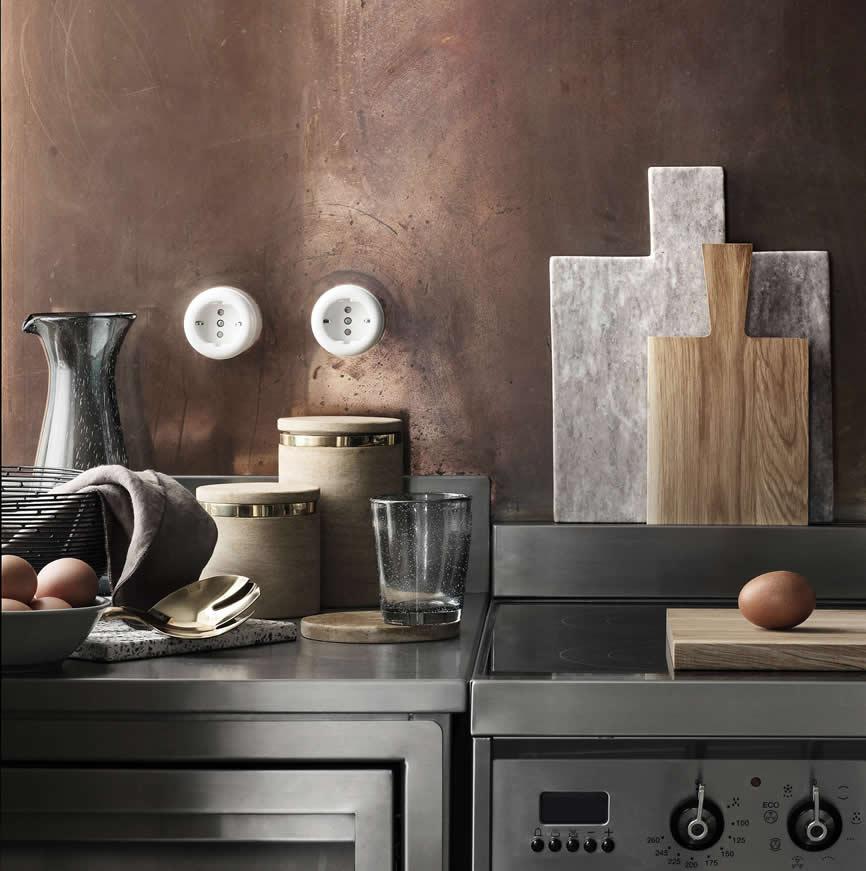 keuken met snijplanken van Broste
