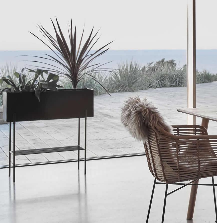 Plantenbak grijs van Hübsch Interior