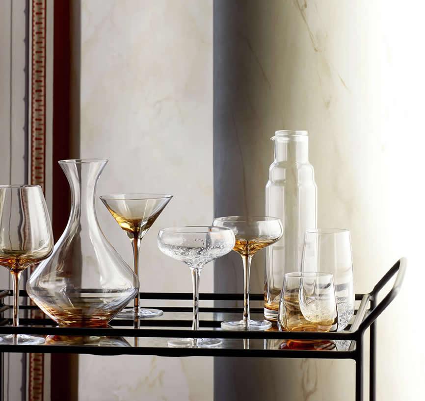 Broste Copenhagen Amber glazen en karaffen