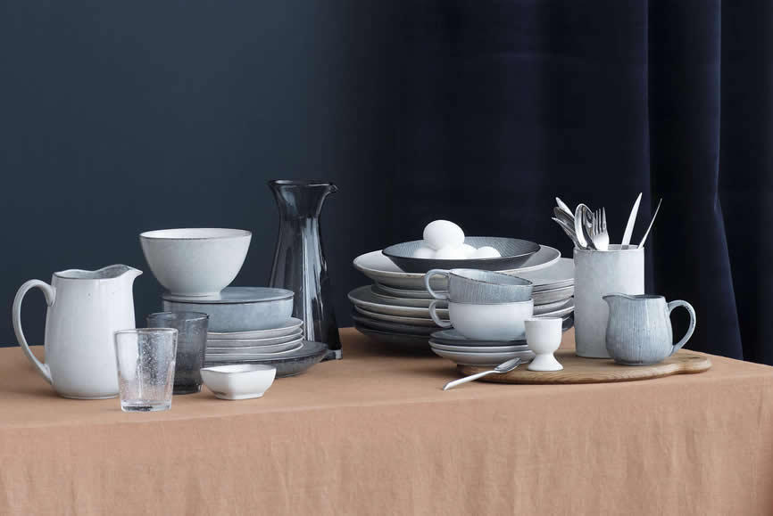 Broste Copenhagen Nordic Sea en Sand servies als combinatie